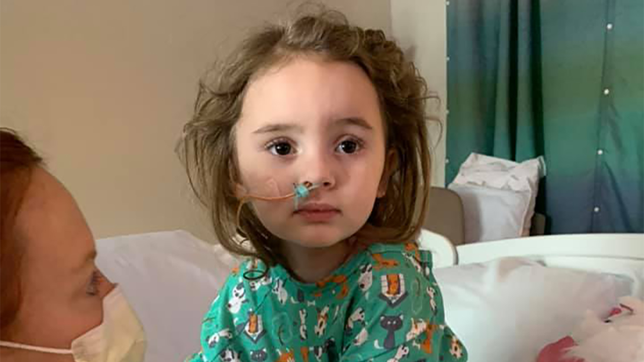 Amy Delucia girl, 4, becomes blind after suffering from flu, mother says