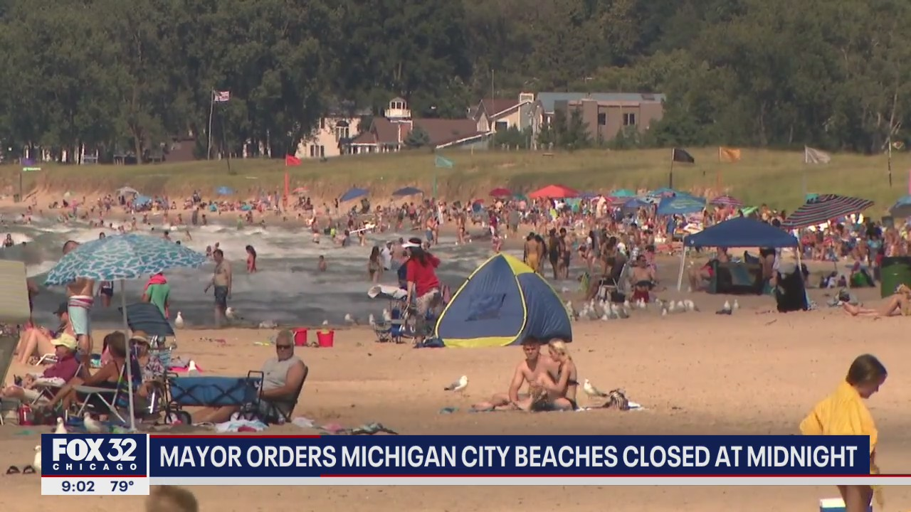 michigan city beaches to close down for 7 days due to overcrowding michigan city beaches to close down for